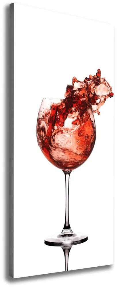 Tablouri tipărite pe pânză Un pahar de vin