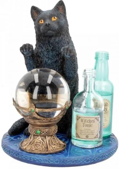Statueta pisica neagra Ucenica Vrajitoarei - Lisa Parker - 20 cm