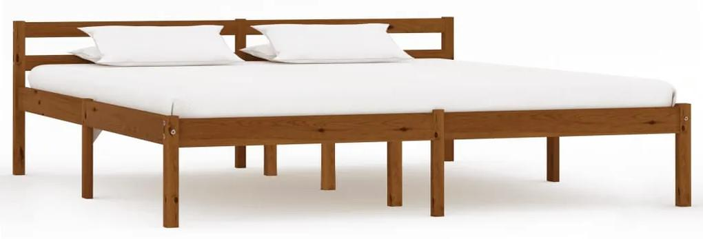 283213 vidaXL Cadru de pat, maro miere, 180 x 200 cm, lemn masiv de pin