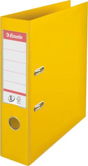 Biblioraft plastifiat ESSELTE 7.5cm galben standard