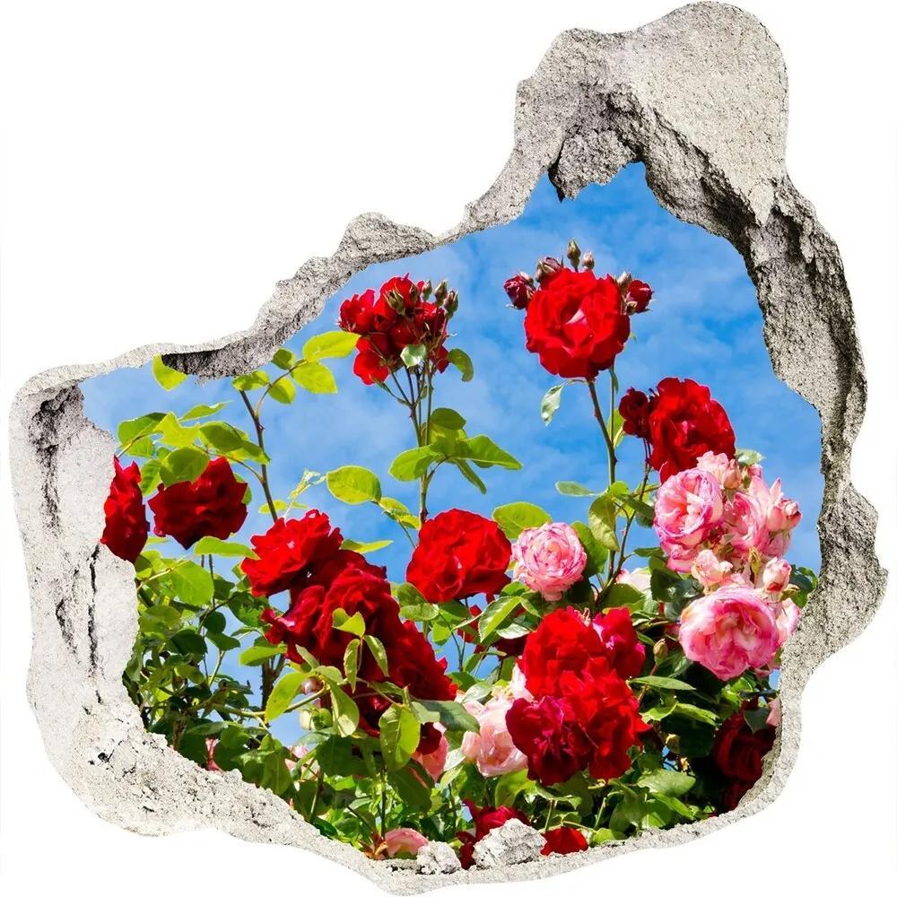 Autocolant un zid spart cu priveliște Trandafiri sălbatici