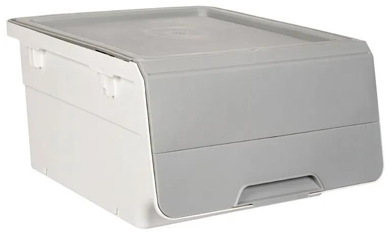 Cutie depozitare cu capac, 25L, 46x39x24 cm
