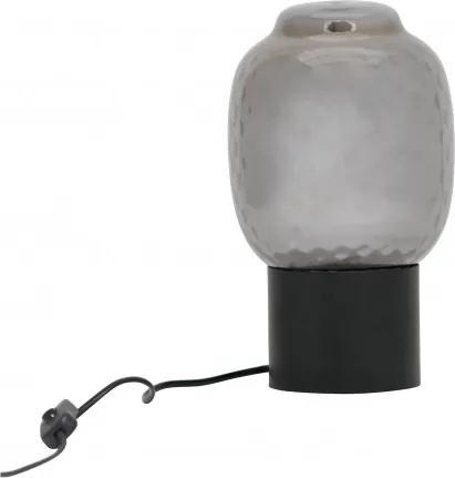 Lampa de birou din fier/sticla Bubble neagra