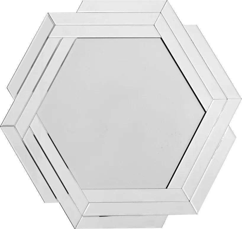 Oglinda hexagonala Artemis Argintiu, 1.6cm (L / D) x 80cm (W) x 85cm (H)