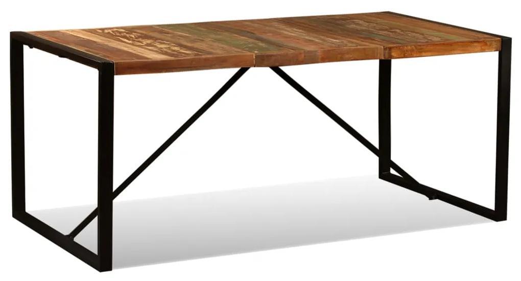 243999 vidaXL Masă de bucătărie din lemn masiv reciclat, 180 cm