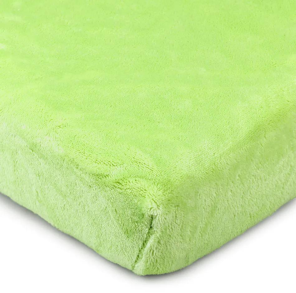 Cearşaf microflanelă 4Home, verde, 160 x 200 cm