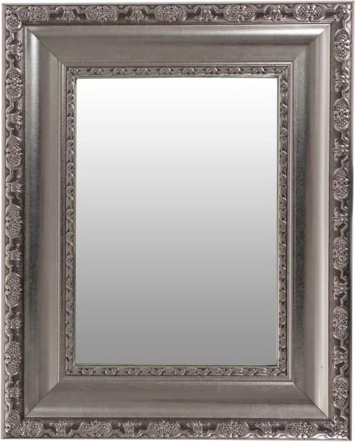 Oglinda dreptunghiulra cu rama din polistiren argintie Sirius, 44,7cm (L) x 35,7cm (L) x 3cm (H)