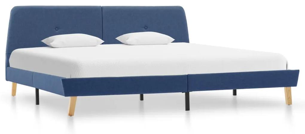 286929 vidaXL Cadru de pat, albastru, 160 x 200 cm, material textil