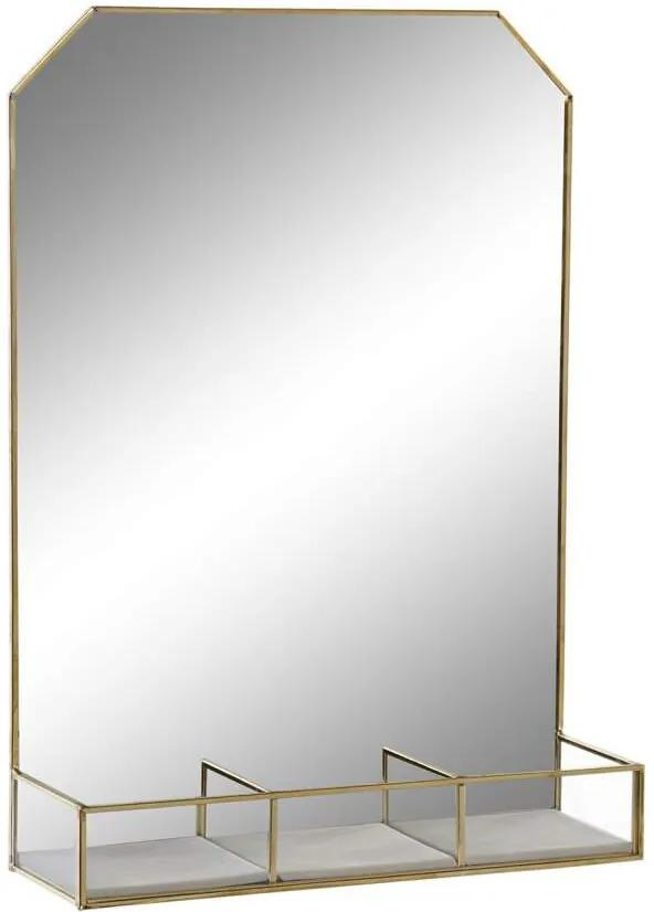Ernny Raft perete oglinda, Metal, Bej