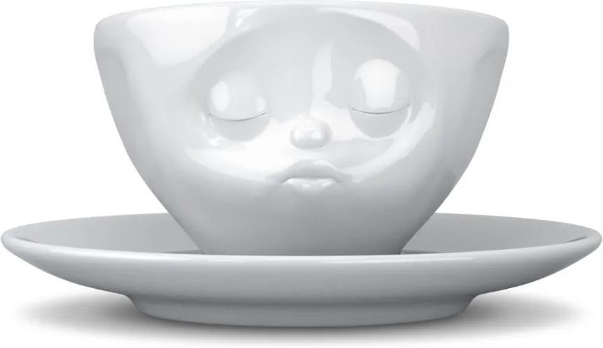Ceașcă din porțelan pentru cafea 58products Kiss, 200 ml, alb