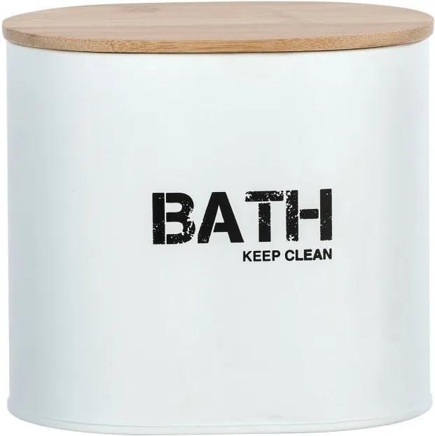 Cutie pentru baie cu capac Wenko Gara, alb