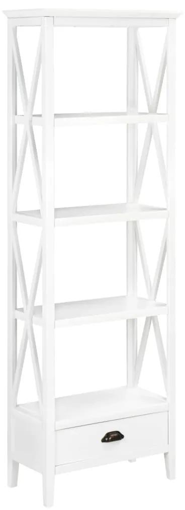 280035 vidaXL Bibliotecă cu 1 sertar, alb 60x30x170 cm, MDF