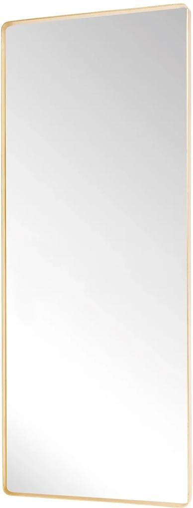 Oglinda de Podea Dreptunghiulara cu Rama din Alama - Alama Transparent Lungime (60 cm) x Latime (4 cm) x Inaltime (152 cm)