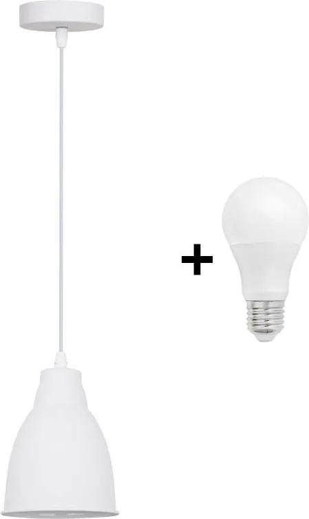 Solight WA009-W - LED Lustră 1xE27/10W/230V alb 13,5cm