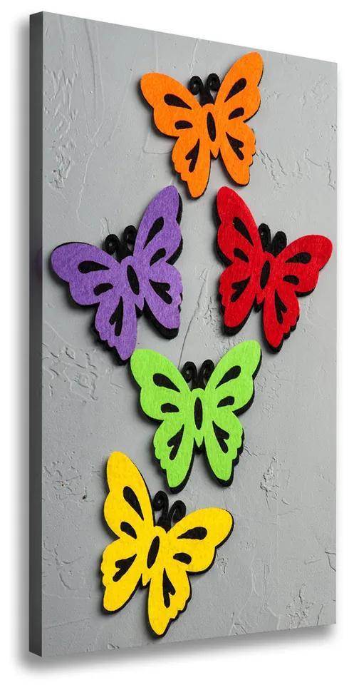 Tablouri tipărite pe pânză Fluturi colorat