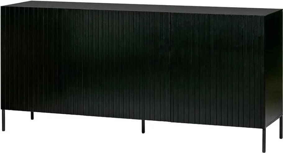 Bufet inferior negru din lemn de pin 180 cm Gravure