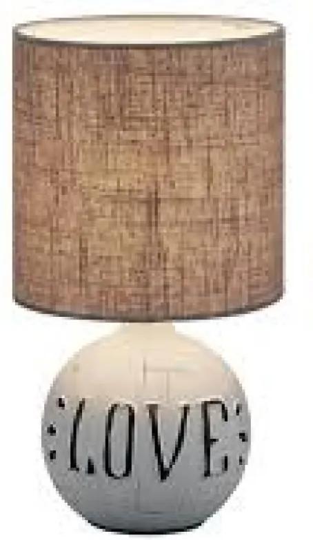 Trio R50661025 Lampa de masa de noapte ESNA alb ceramică excl. 1 x E14, max. 40W IP20