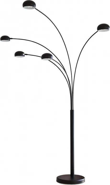 Lampadar din metal/marmura THIS & THAT 220 cm negru, 5 becuri