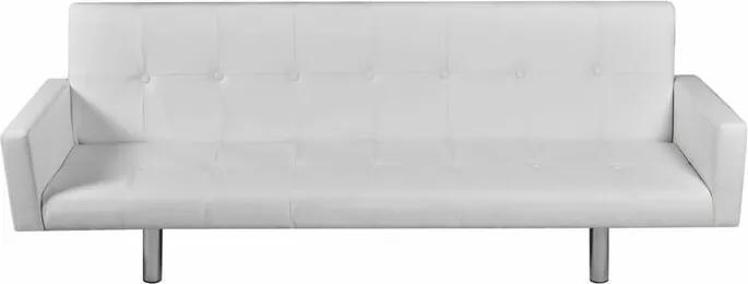 Canapea extensibilă Mamie, alba, 66,5 x 184 x 77,5 cm