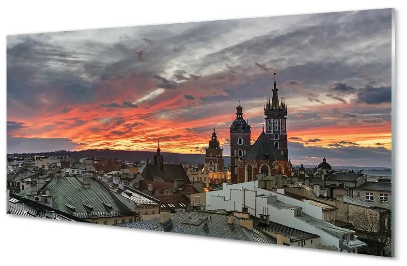 Panouri de sticlă Panouri de sticlă Cracovia Sunset Panorama