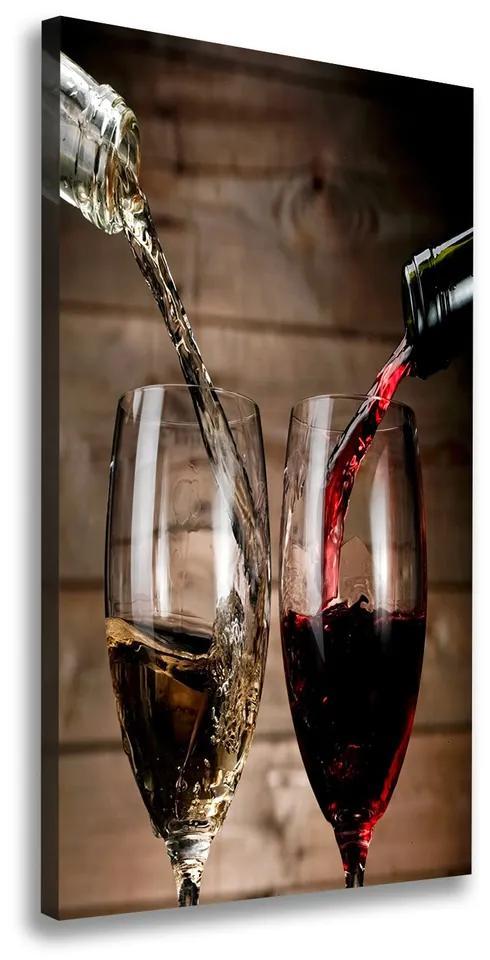 Tablou canvas Vin în pahare