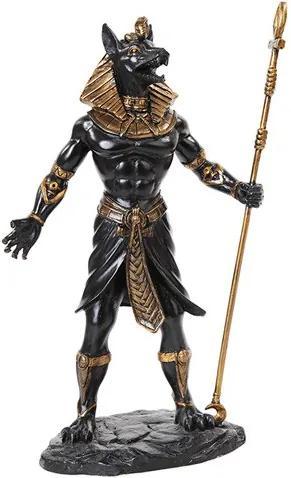 Statueta zeu egiptean Anubis
