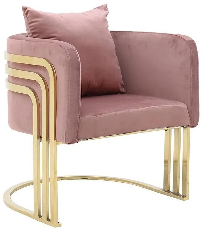 Fotoliu Pink Elegance 55 cm x 65 cm x 68 cm