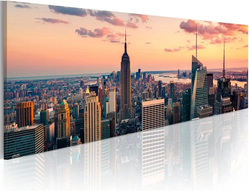 Tablou Bimago - Sea of skyscrapers - NYC 120x40 cm