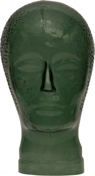Decoratiune statueta din sticla, verde