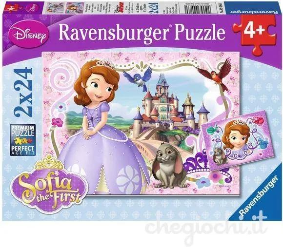 PUZZLE Copii 4Ani+ PRINTESA SOFIA, 2x24 PIESE