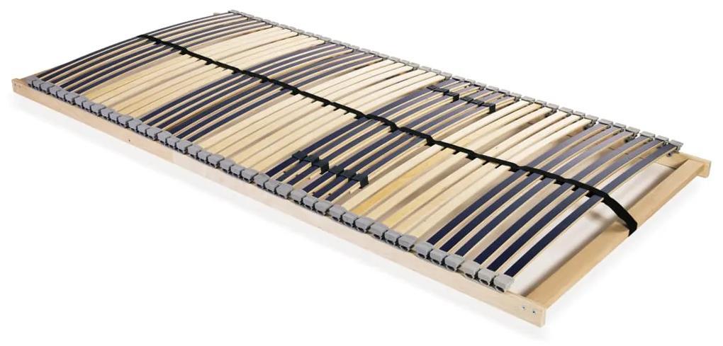 246464 vidaXL Bază de pat cu șipci, 42 șipci, 7 zone, 100 x 200 cm