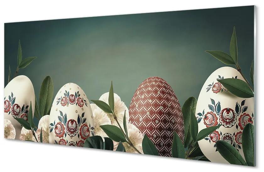 Tablouri pe sticlă Frunze de flori din ouă