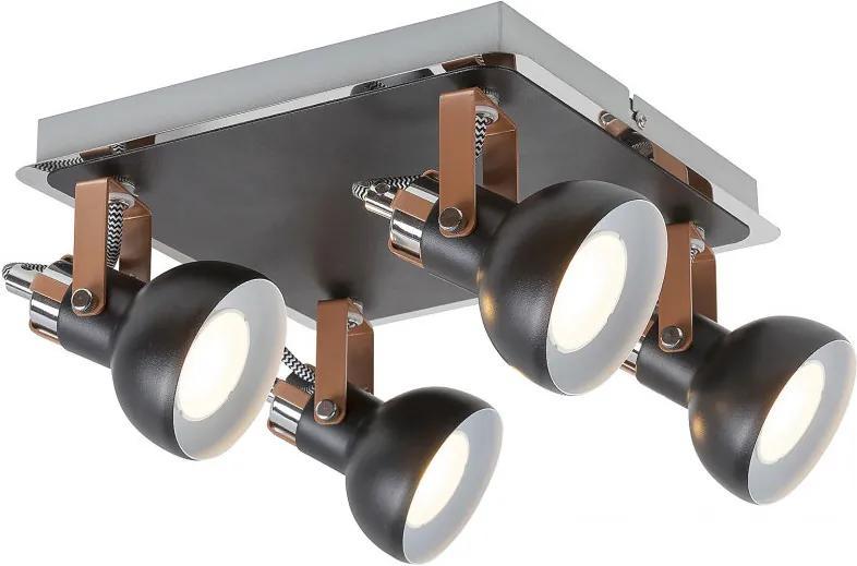 Rábalux 5612 Plafoniere Balzac negru mat metal GU10 4X MAX 35W IP20