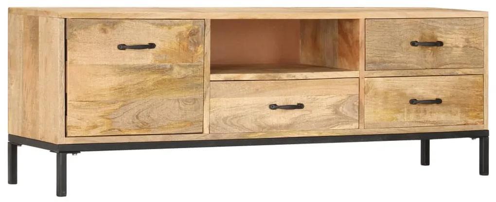 247943 vidaXL Comodă TV, 130 x 30 x 45 cm, lemn masiv de mango