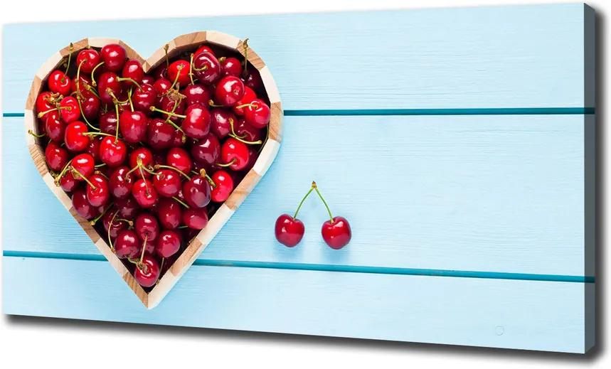 Print pe pânză Inimă de cireșe