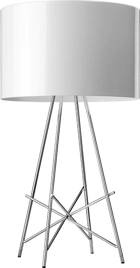 Ray - Lampă de masă albă din sticlă