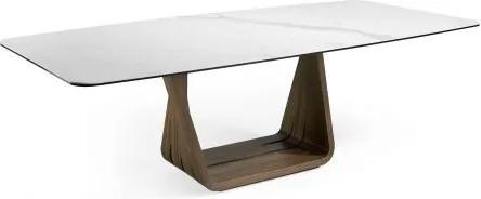 Masa dining design modern Walnut-Porcelain, 260x120cm