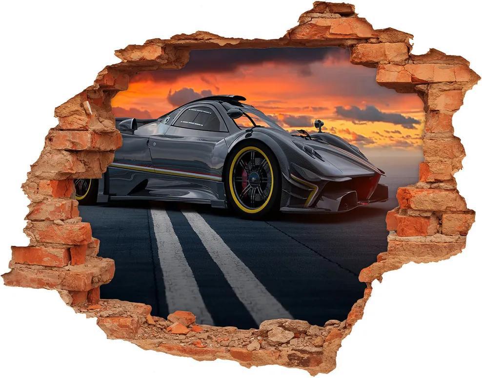 Autocolant un zid spart cu priveliște Cal de curse