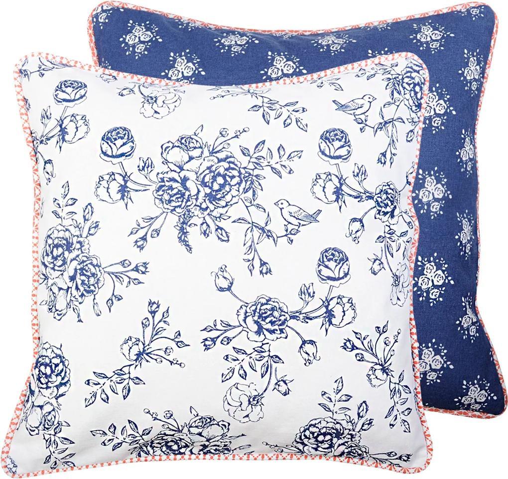 Fata de perna bumbac Blue Flowers 40*40 cm