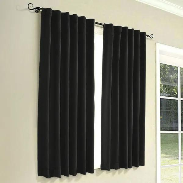Goldea draperie decorative rongo - negru 140x145 cm