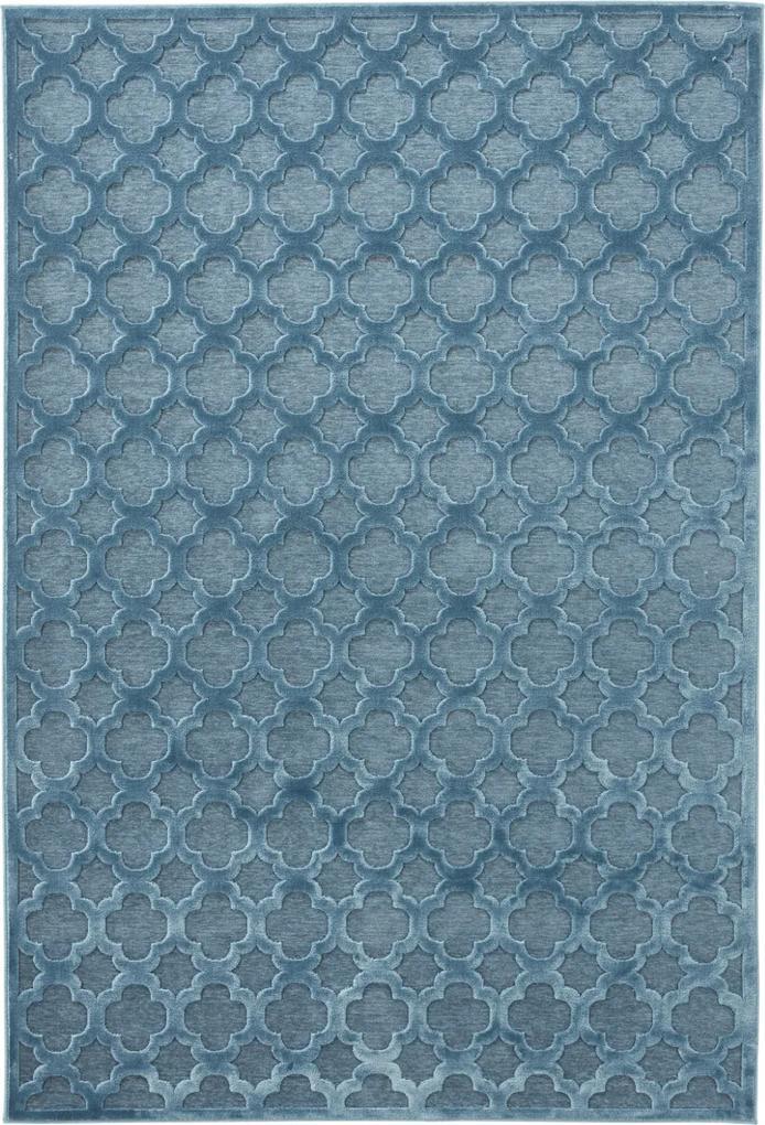 Covor Modern & Geometric Shine, Turcoaz, 80x125