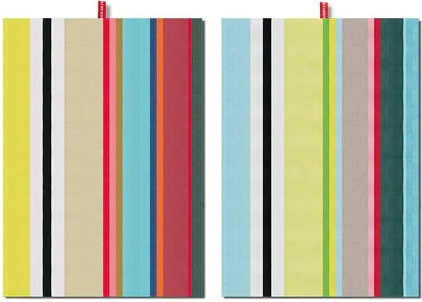 Set 2 prosoape Remember Green Stripes, 70 x 50 cm