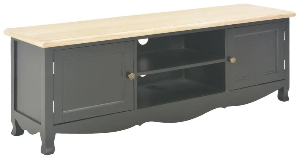 249891 vidaXL Comodă TV, negru, 120 x 30 x 40 cm, lemn