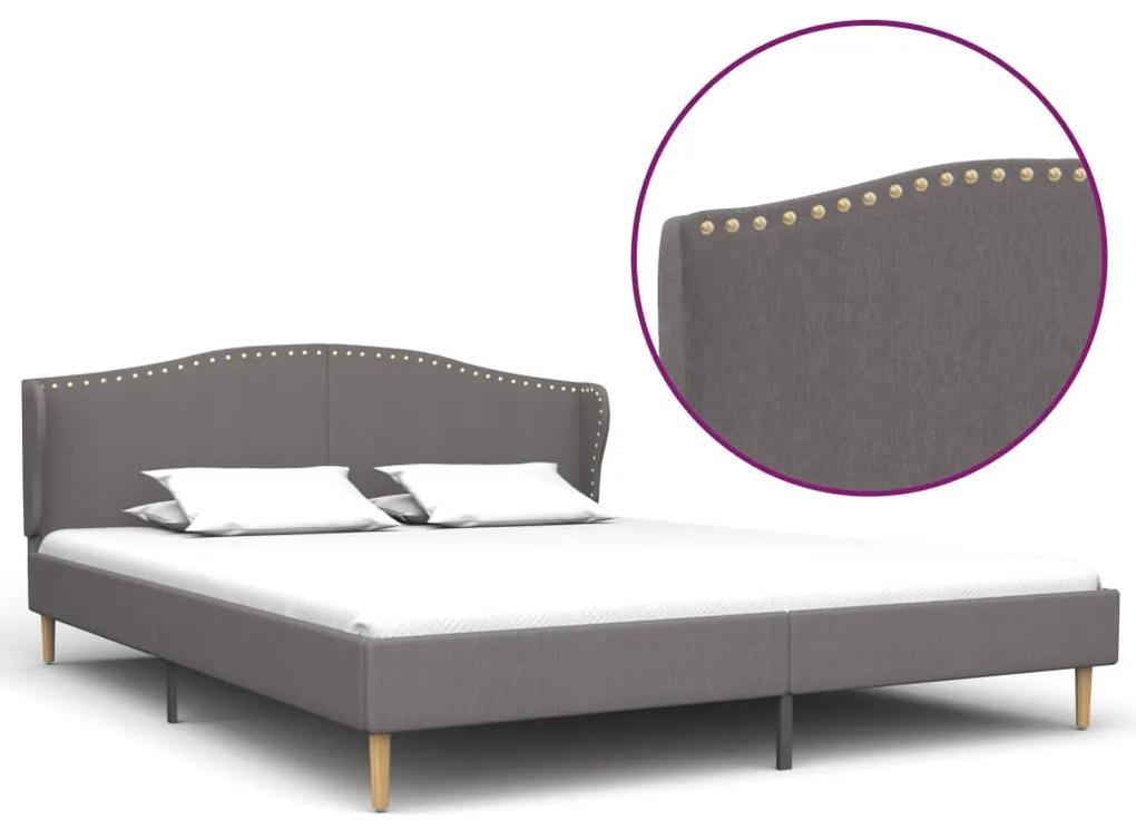280651 vidaXL Cadru de pat, gri deschis, 180 x 200 cm, material textil