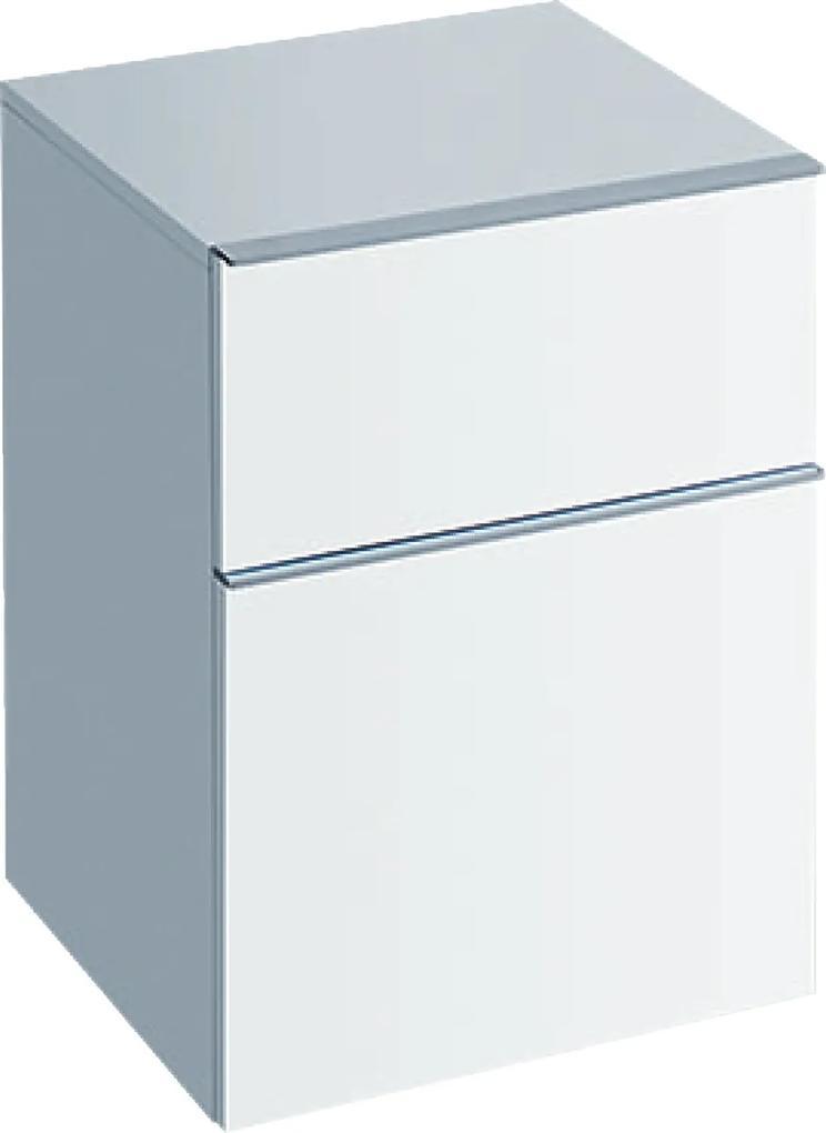 Dulap suspendat Geberit iCon 45x60x47.7cm cu doua sertare, alb lucios