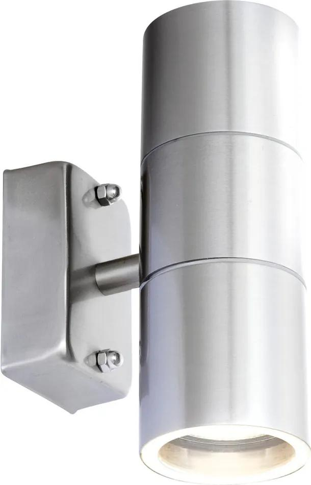 Globo Style 3201-2L Aplice pentru iluminat exterior oțel inoxidabil 2 x GU10 max. 5w 16,5 x 6 x 6 cm