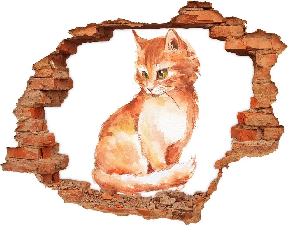 Autocolant autoadeziv gaură Red Cat