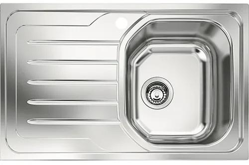 Chiuveta bucatarie Franke OLL 611, picurator pe stanga, 79x50 cm, inox,