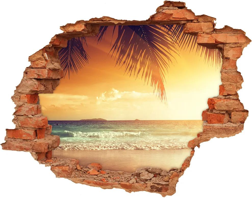 Fototapet un zid spart cu priveliște Plaja tropicala