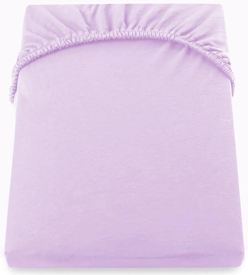 Cearșaf de pat cu elastic DecoKing Nephrite, 180–200 cm, roz - violet